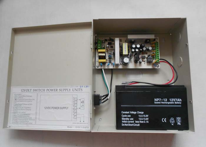 12VDC 3.5Amp 1 Channel Power Store with Battery Back-up 12VDC3.5A1P/B