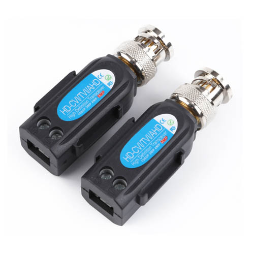 8MP HD-CVI/TVI/AHD Passive CCTV Video Balun with Pigtail (VB501EH)