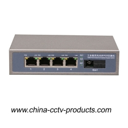5 Port Enhanced CCTV Poe Switch with 4 Poe Port + 1 SC (POE0401SC)