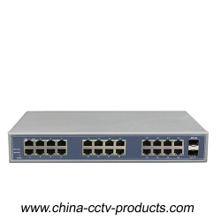1000Mbps 2 Port SFP + 24 Port RJ45 Backbone Ethernet Switch