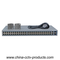 48CH PoE Power Switch with 2 ports Uplinks COMBO (Built-in Power) (POE4822SFP-2)