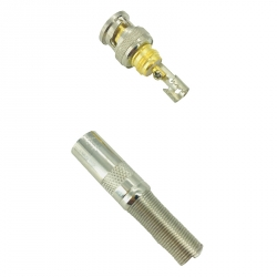 Gold Plated CCTV BNC Male Connector with Screw (CT5046-7)