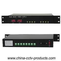 8 channels 24V AC LED display rack mount power supply (24VAC5A8P-1.2U)