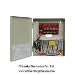 12VDC 5A 9 Channel CCTV Power Supply with Battery Backup 12VDC5A9P/B
