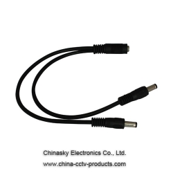 2 Way DC Jack/Plug Splitter Cable