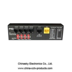 4 Channel Video Power Data Passive Transceiver  , 75 Ohm Video Power Data Balun