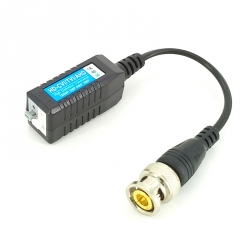 1CH Screwless 8MP HD-CVI/TVI/AHD passive Video Balun with Pigtail