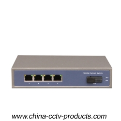 1000Mbps 1 Port Sc + 4 Port RJ45 Full Gigabit Switch