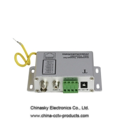Coax to Cat5 Active Video Audio Data Balun, Twisted Pair Video Balun, VB302T