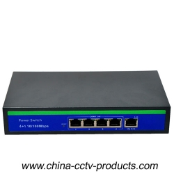 10/100Mbps 4+1 Ports POE Network Switch With Built-in Power (POE0410BU)