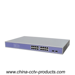 1000Mbps 2 Port SFP + 16 Port RJ45 Network Switch