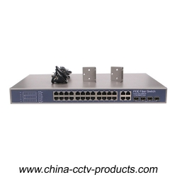 24CH PoE Power Switch with 4 ports Uplinks COMBO (Built-in Power)(POE2444SFP-2)