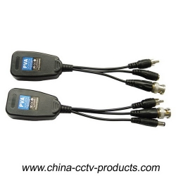 1ch Passive HD-CVI/TVI/AHD Video Balun with Power/Audio