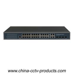 1U 32 ports 1000Mbps Layer 2 Managed POE Switch (POE2444M)
