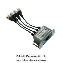 4 Channel Passive CCTV Video Balun VB804