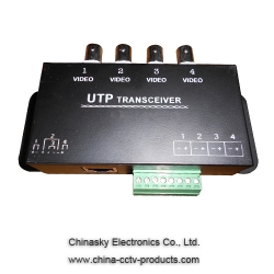 4 Channel Passive CCTV UTP Video Balun Video Transceiver VB140B