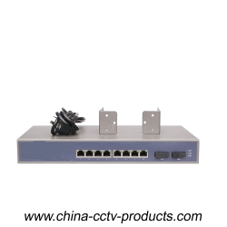 8 RJ45 Port+ 2 Sc Port Gigabit Network Switch