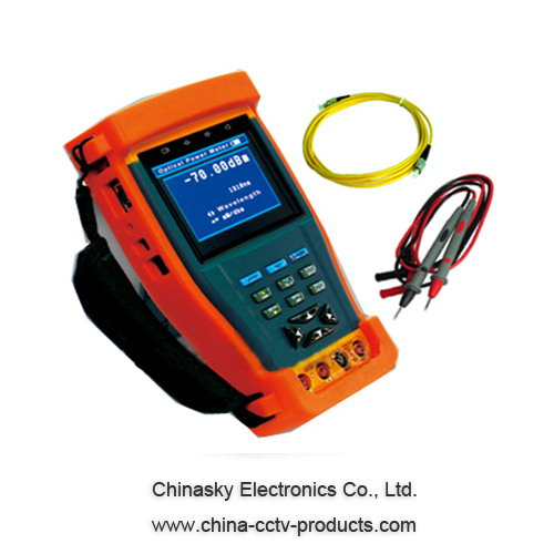 3.5 inch CCTV video tester with 12VDC output, digital multimeter, optical power meter CT895