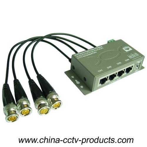 4CH CCTV Cat5 Power Video Data Combiner HD Balun (PVD304H)