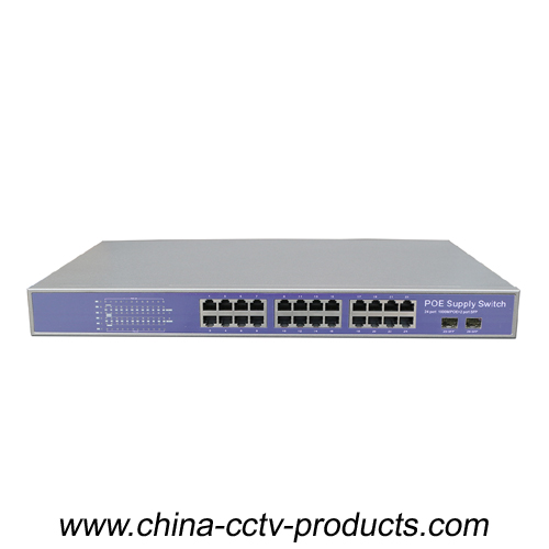 CCTV Security System 24 Ports PoE Switch With Built-in Power (POE2402SFP-3)