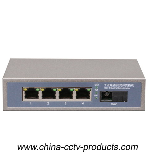 4 Port Rj45 + 1 Port SC Enhanced Fiber Switch