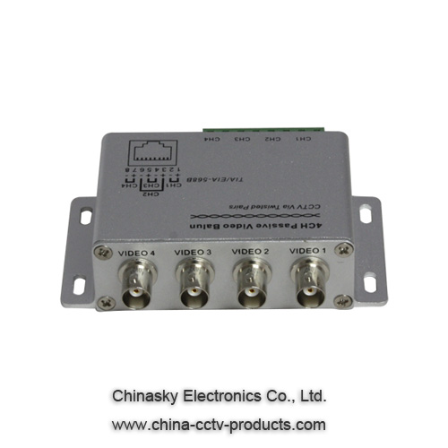 4 Channel Passive UTP CCTV Video Transceiver VB204
