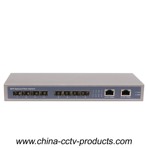 1000Mbps 8 Port SFP + 2 Port RJ45 Core Gigabit Switch