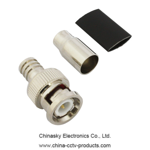 CCTV BNC Crimp Connector for Rg59 U Cable, RF BNC Connector, CT5014