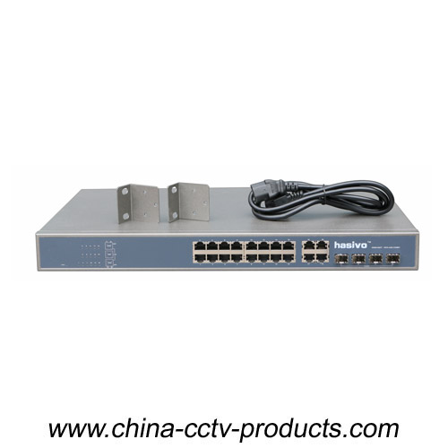16CH PoE Power Switch with 4 ports Uplinks COMBO (Built-in Power) (POE1644SFP-2)