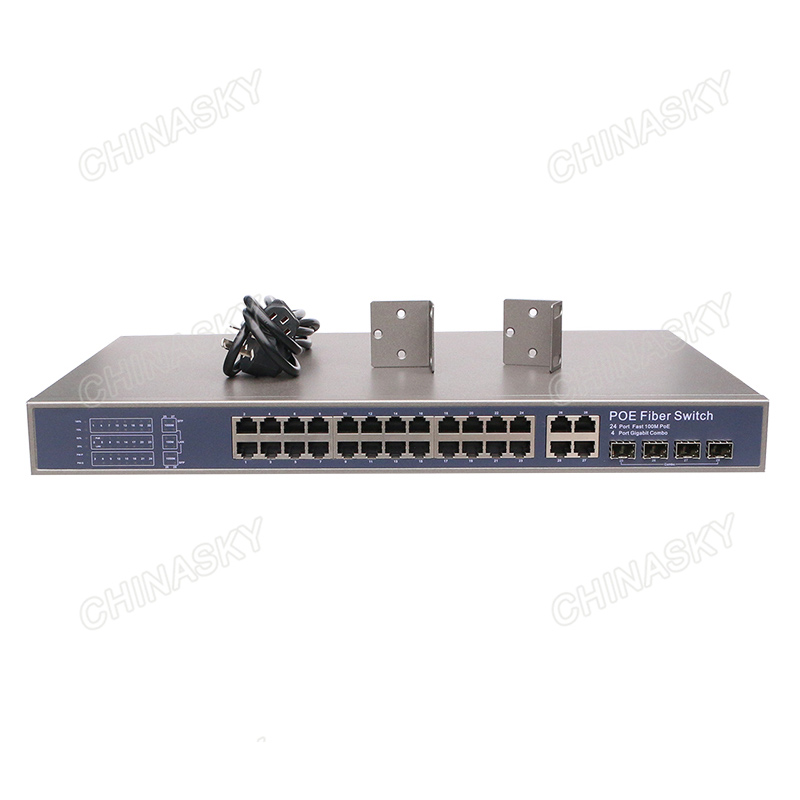 24CH PoE Power Switch with 4 ports Uplinks COMBO (Built-in Power) (POE2444SFP-2 COMBO)