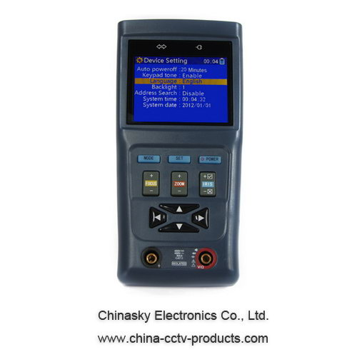 2.8 Inch LCD CCTV PTZ Camera Security Tester , 12V 1A Output , Digital Multimeter