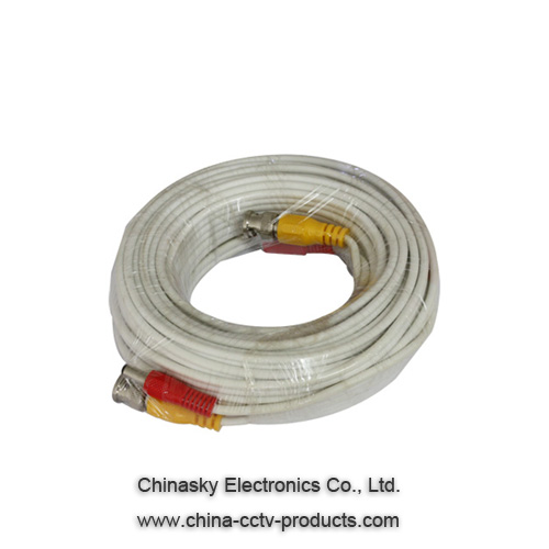Siamese Coaxial CCTV Video Cable with BNC and DC Plug , 100 Ft Video Cable