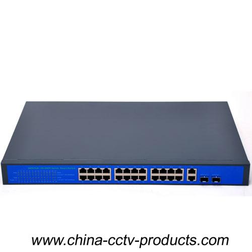 400W 24 Ports POE Switch With 2 Gigabit Uplink (POE2422SFP-2)
