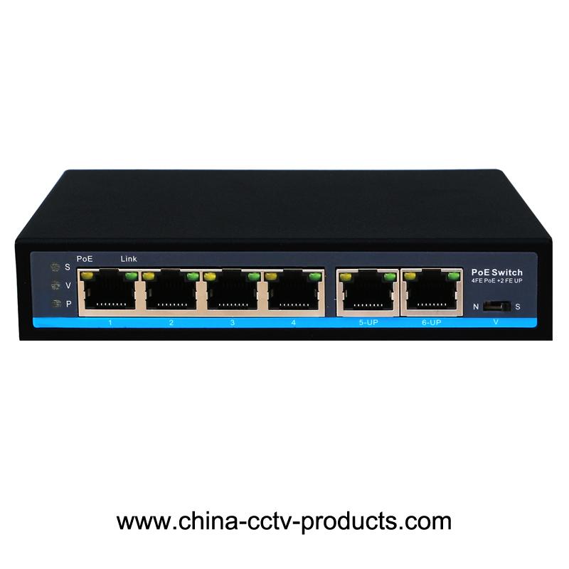 4 POE + 2 RJ45 Uplink POE Power Network Switch (POE0420N)