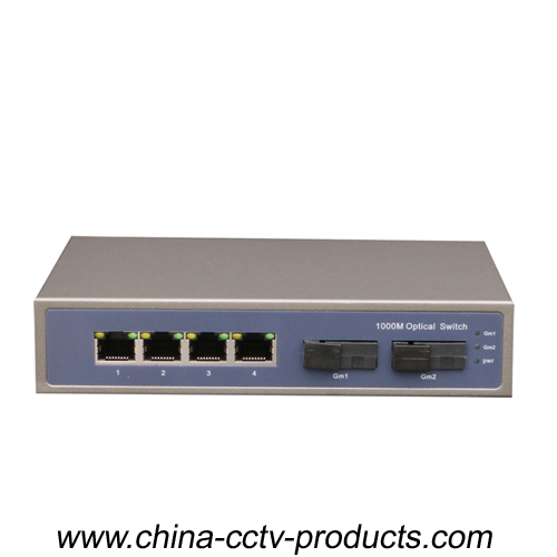 4 Port RJ45+ 2 Port Sc Enhanced Ethernet Switch