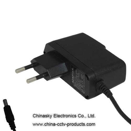 12VDC 500mA CCTV Power Adapter for CCTV PTZ or Camera System, S1205E