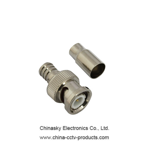Male CCTV BNC Connector for Rg59 , Coaxial Cable BNC Connector, CT5013