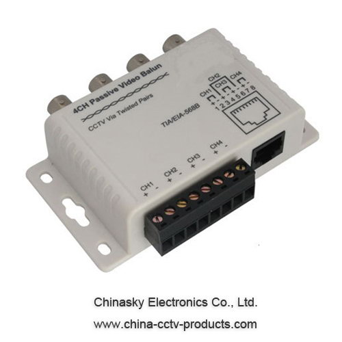 4 channel bnc to rj45 cat 5 video transceiver passive cctv utp 4 channel bnc to rj45 cat 5 video transceiver passive cctv utp video