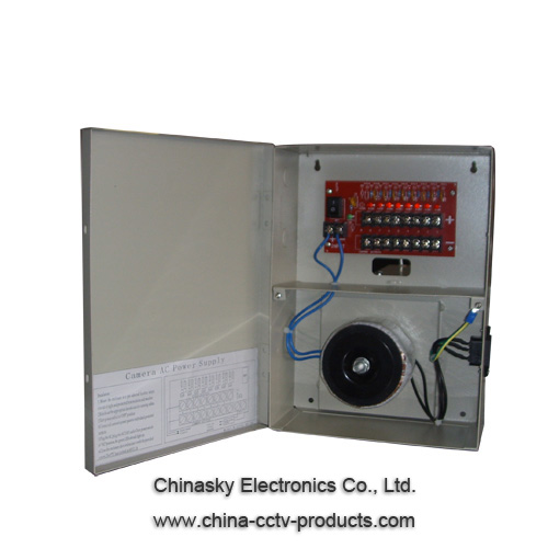26V AC 3Amp 8CH CCTV Power Supply Box 26VAC3A8P