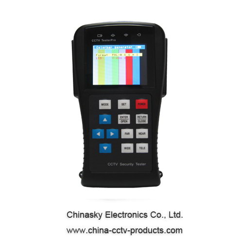 Multi Functional CCTV Tester with Monitor , PTZ CCTV Tester CT890