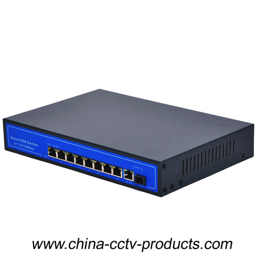 8 POE Power Supply RJ45 Ports Security System Switch (POE0810BG)