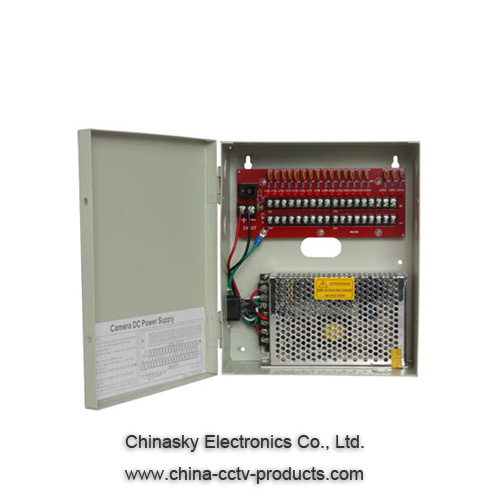 12VDC 10Amp 18 Ch CCTV Power Distribution Box 12VDC10A18P