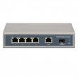 1000Mbps 4 Ports PoE Switch with 1 SFP Ports (Built-in Power) (POE0411SFPB-3)