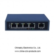 DC48V/1.25A power adaptor 4 channel 10M/100M PoE switch