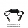 Passive Video Ground Loop Isolator for CCTV with 25CM Cable,Video Ground Loop Isolator, GB100