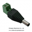 Screw Terminals 2.1mm CCTV Power Connector , DC Power Male Connector, PC100