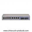 10 Port Enhanced Full Gigabit POR Switch with 8 Port PoE 2 Port SC (POE0802SC-3)