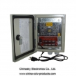 12VDC 10Amp 9 Channel Water-proof CCTV Power Supply Box 12VDC10A9PW
