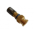 Water-proof BNC Male Compression Connector for RG6 Cable Gold / CCTV Connector CT5078G/RG6