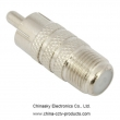 F Female to RCA Male Connector